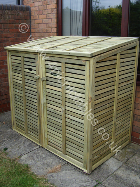 We even have smaller Log Stores to keep your wood and charcoal in for the Chimnea and Barbeque! Log stores like anything made from wood should never be ... & Double wheelie bin store uk