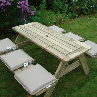 picnic tables garden bench cushions